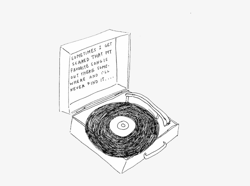 vector royalty free download Drawing song tumblr. Transparent music note record