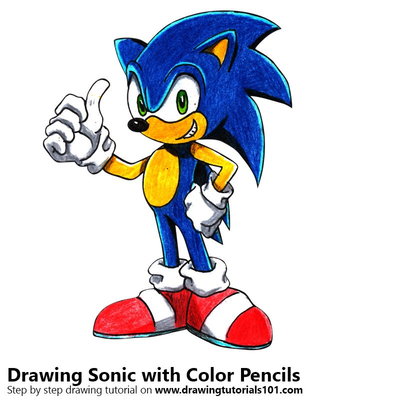 graphic transparent stock Colored pencils with color. Drawing sonic colour