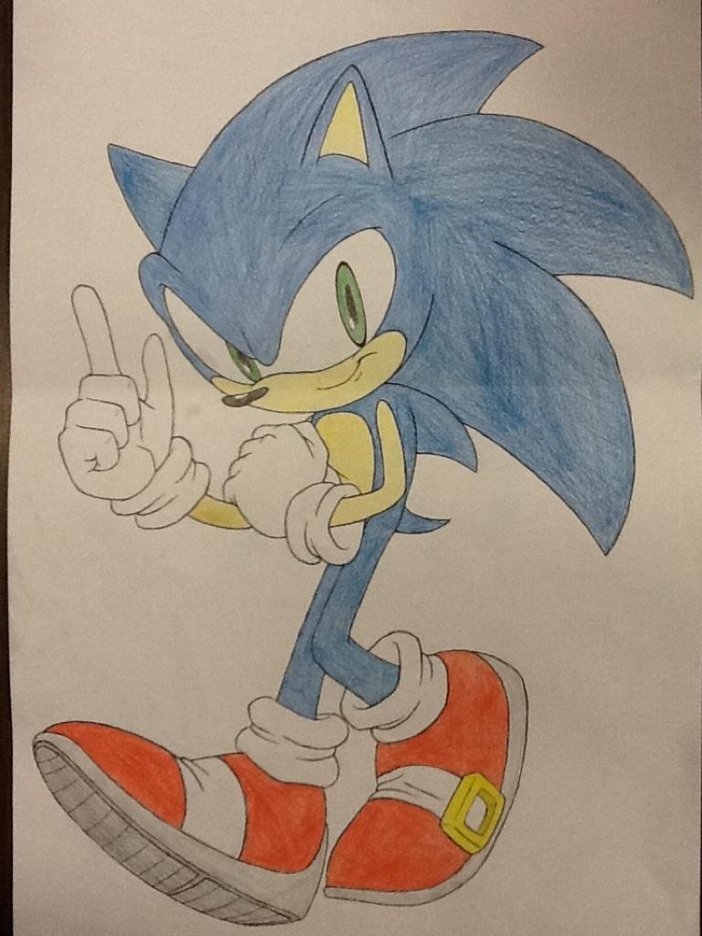 image transparent The hedgehog colored traditional. Drawing sonic colour