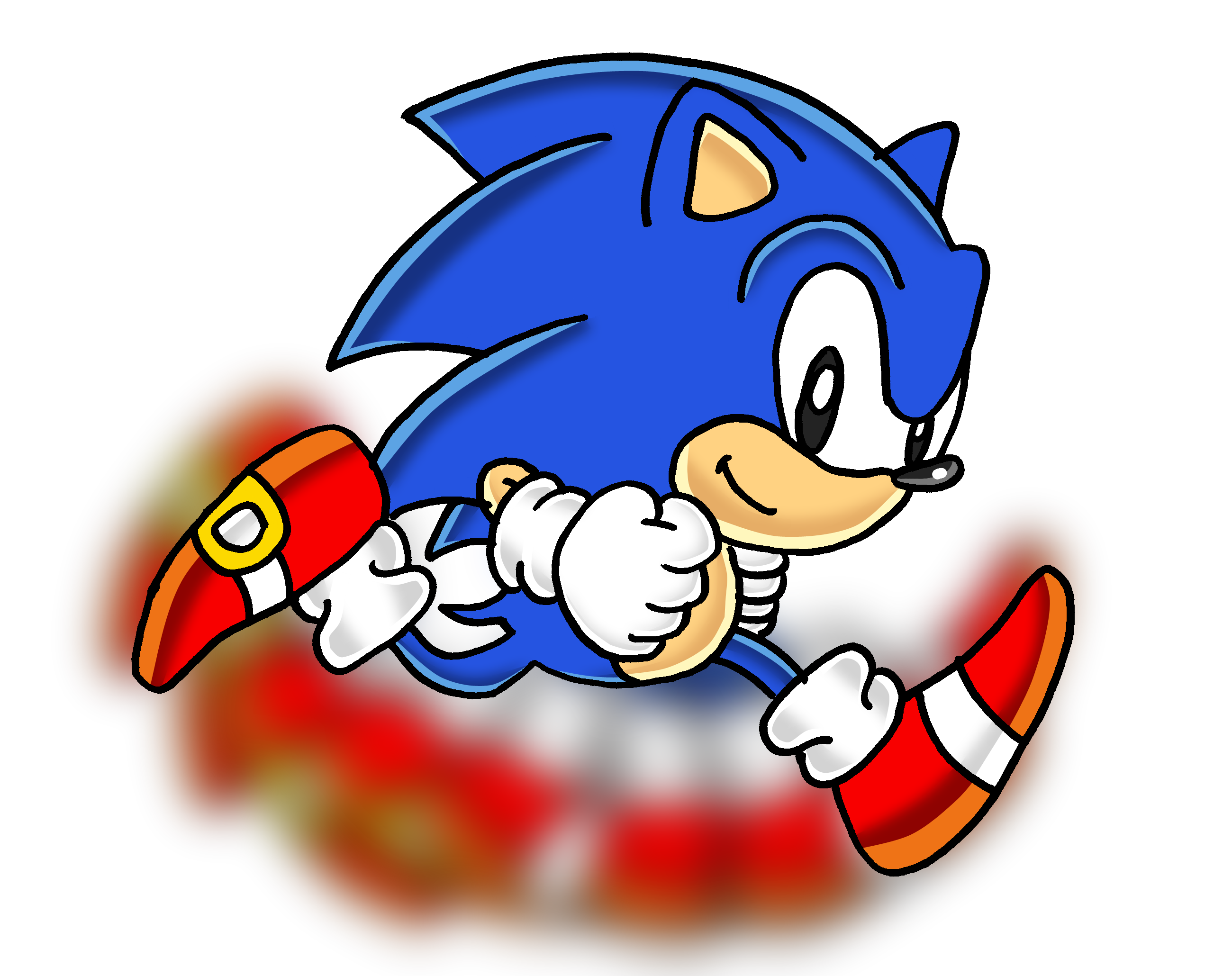 graphic black and white download Image classic running png. Drawing sonic epic