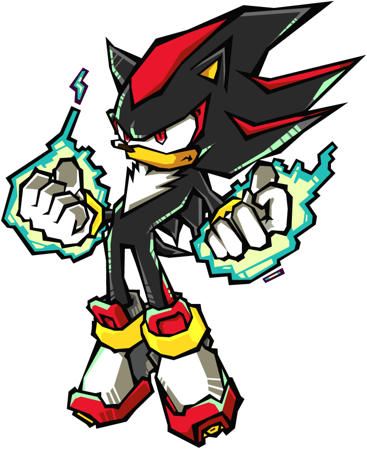 clip free Drawing sonic fight. Battle shadow the hedgehog