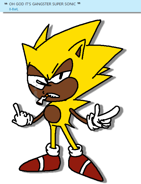 svg free Super by gftheplayer on. Drawing sonic gangsta