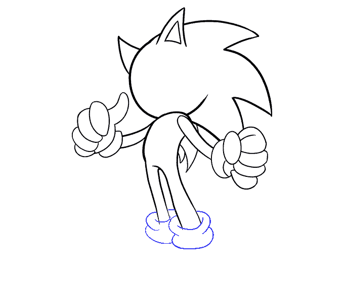 clipart stock Drawing sonic line. How to draw the