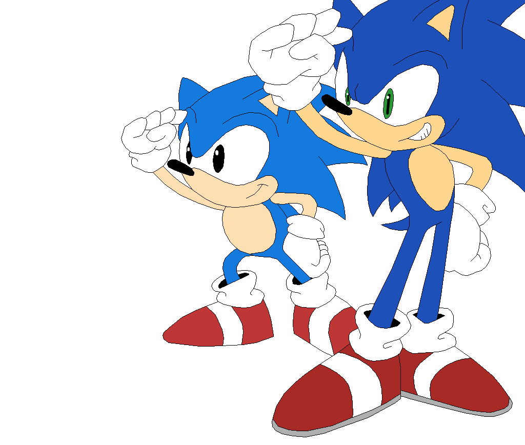 clip art stock Drawing sonic modern. The hedgehog by sonicthehedgesantos