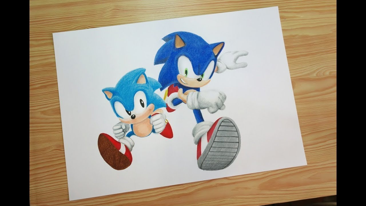 clipart free stock Speed and classic generations. Drawing sonic modern