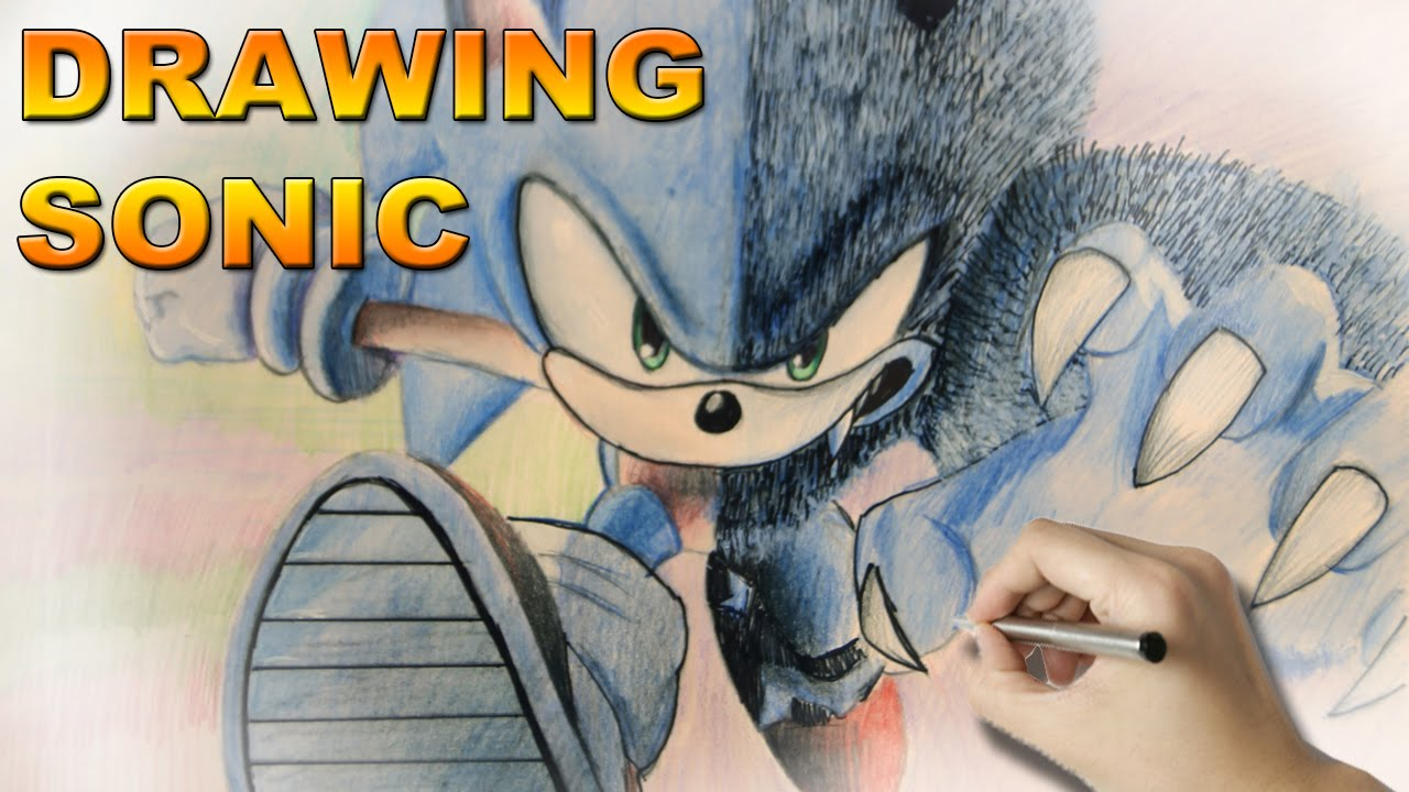 clipart transparent Drawing sonic pencil. Pencils on paper time