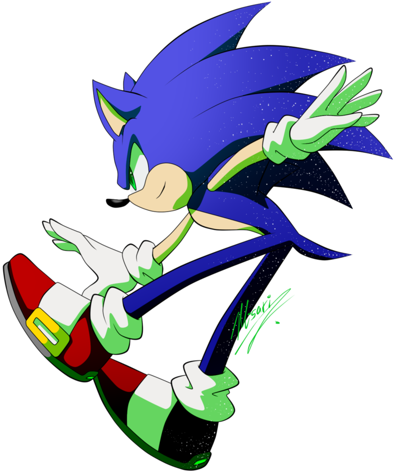 black and white stock sonic by Myly