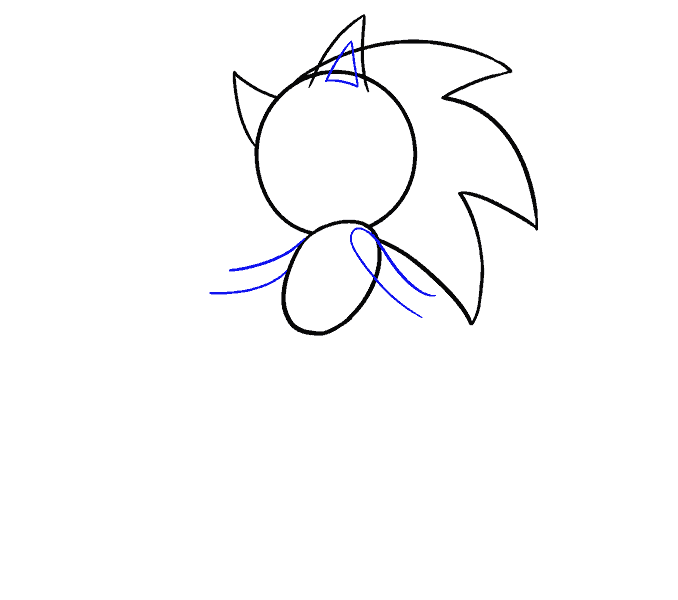 png black and white stock Sonic Hedgehog Drawing at GetDrawings