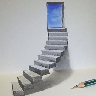 vector black and white download drawing stairs realistic #134942136