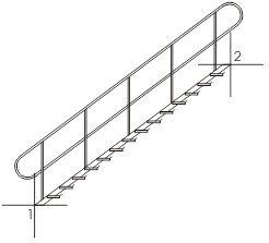 clip art free Stair sections in diagonal side view