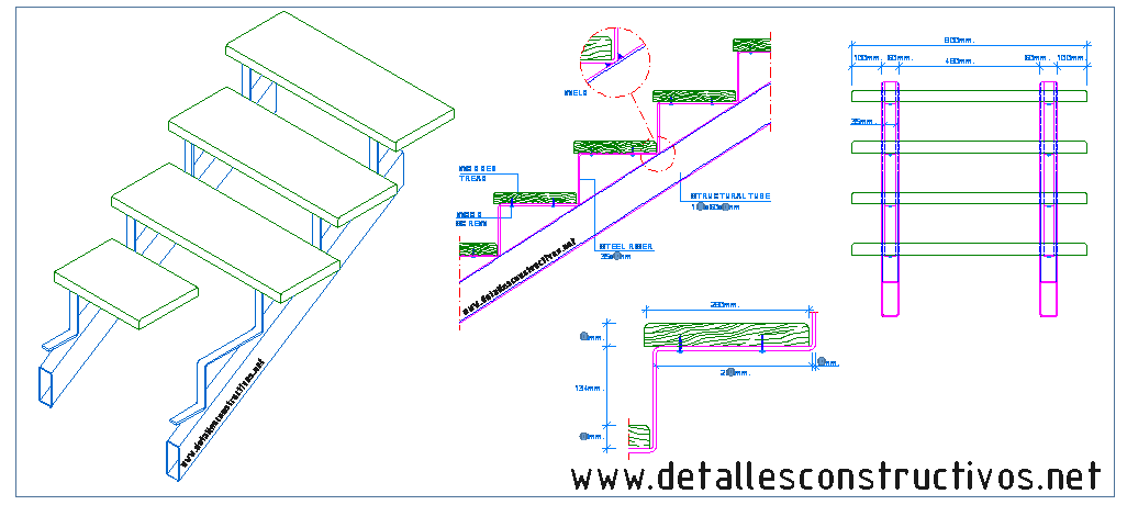 clip art library download Steel staircase with wooden treads