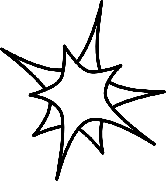clip transparent library Star Drawing Outline at GetDrawings