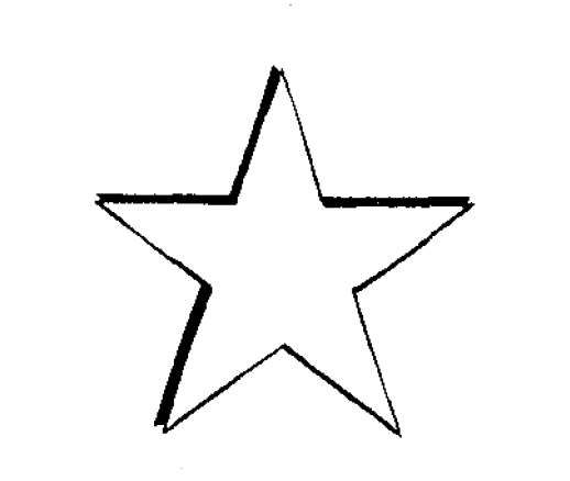 jpg black and white drawing star #86832598