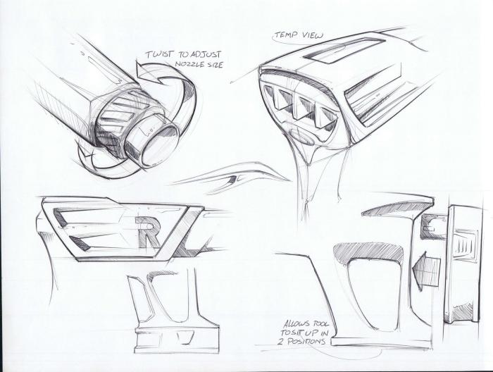 png download Ryobi heat gun by. Drawing power sketch