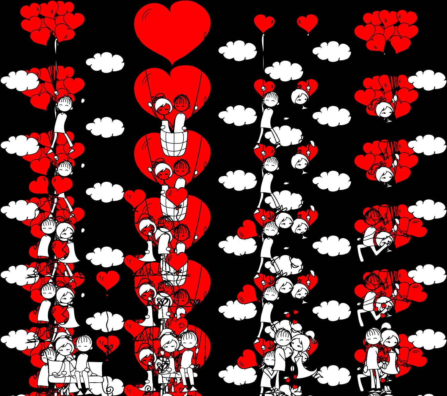 transparent stock Drawing stick couple. Romance love figure holding