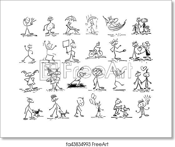 image download Free art print of. Drawing stick doodle