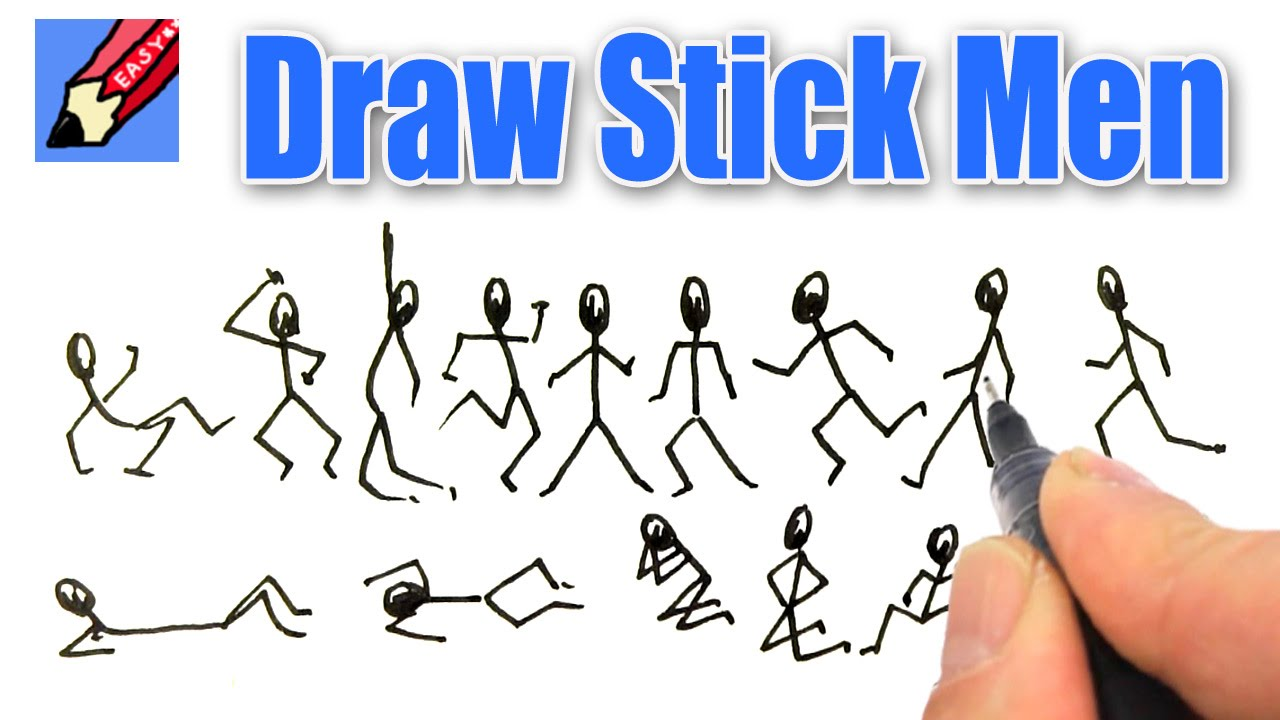 png free stock Drawing stick easy. How to draw men