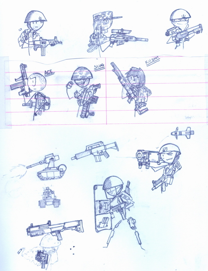 image freeuse Sketches by ferret honey. Drawing stick soldier