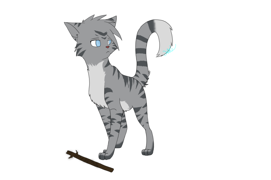 png Drawing stick warrior. Jayfeather and his by