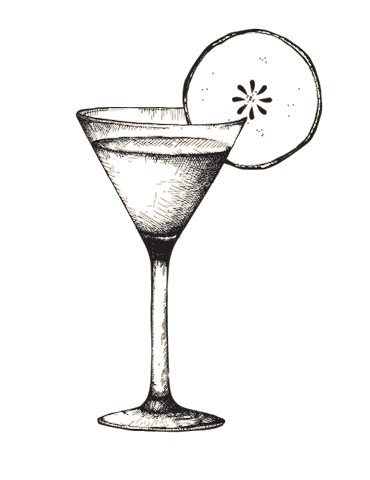 png black and white library Apple pie martini vectors. Drawing sticks cocktail glass