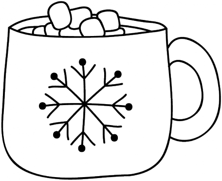 banner free download Hot cocoa doodle template. Drawing sticks cup