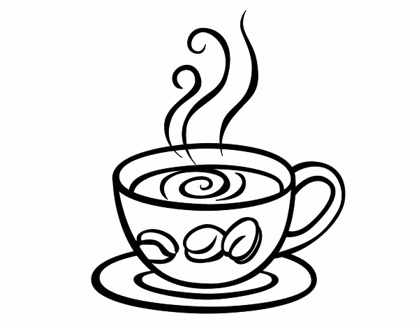 graphic free download Cappuccino coloring pages pinterest. Drawing sticks cup