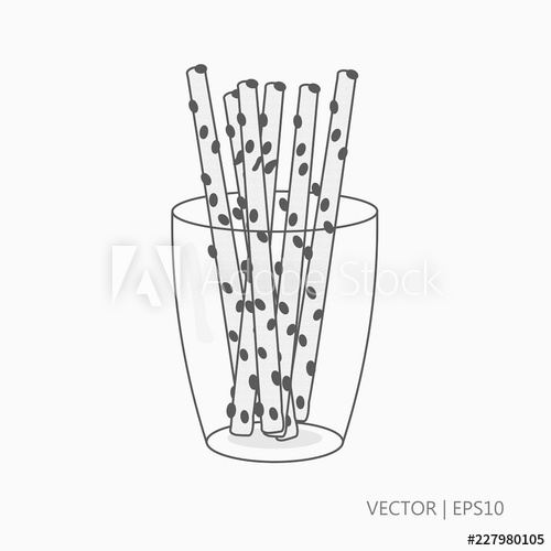 banner Drawing sticks glass. Vector illustration salty in