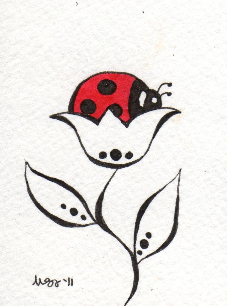 banner freeuse library Drawing sticks red and white. Black lovely ladybugs color