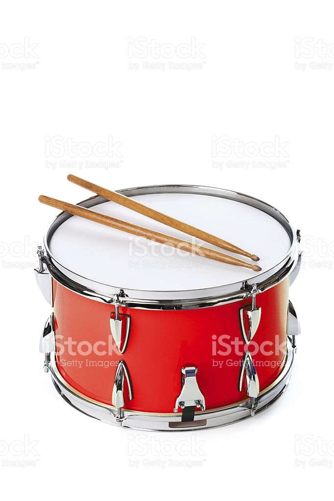 png A drum with isolated. Drawing sticks red and white