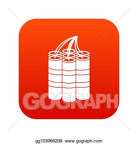 royalty free download Dynamite icon digital clipart. Drawing sticks red and white