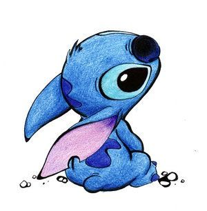 jpg black and white From lilo and davinci. Drawing stitch adorable