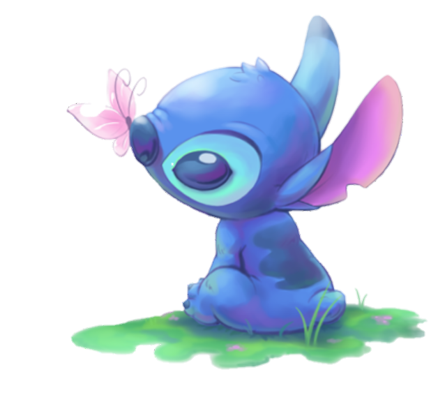 png black and white Drawing stitch kawaii. Stich