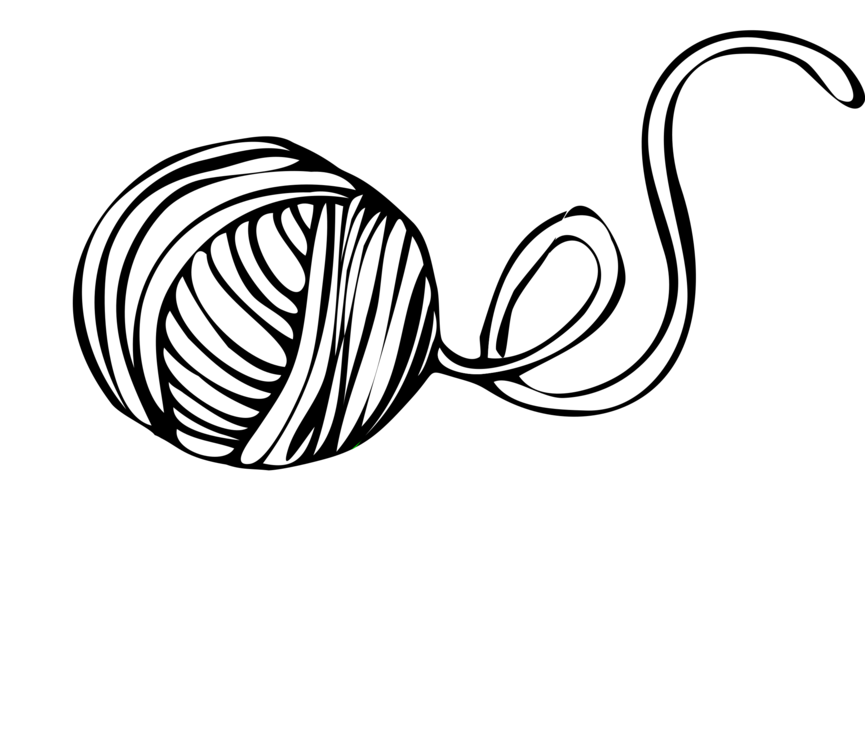 vector black and white download Knitting needle Hand