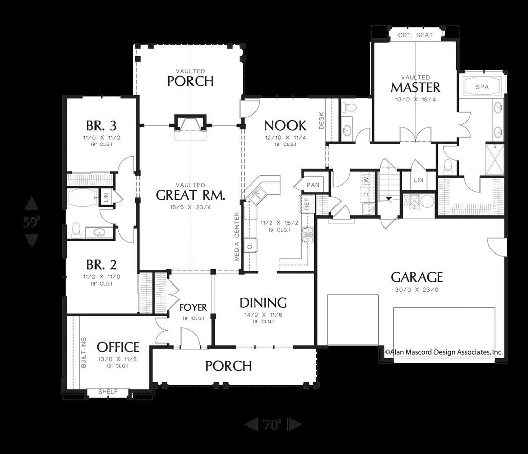 jpg black and white Craftsman house plan the. Drawing storage garage
