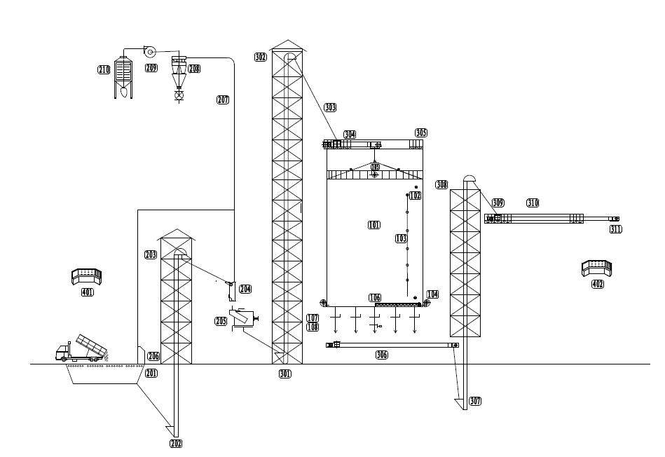 clipart black and white stock Drawing storage grain. Silo design for ton