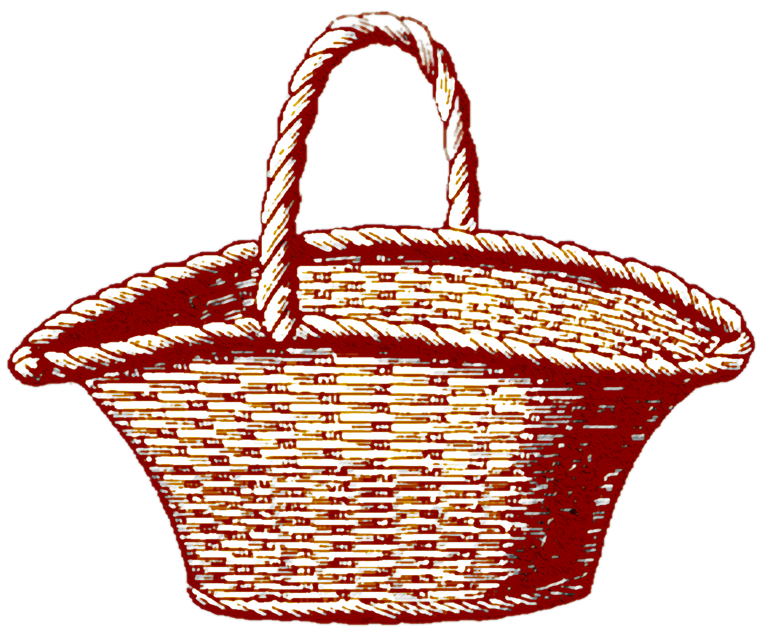 vector freeuse download Drawing storage painting. Picnic basket hand painted