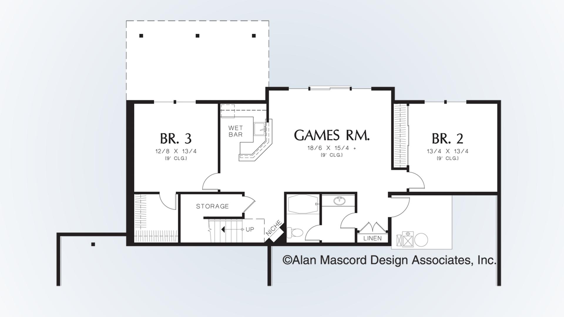 image free Craftsman house plan gd. Drawing storage room