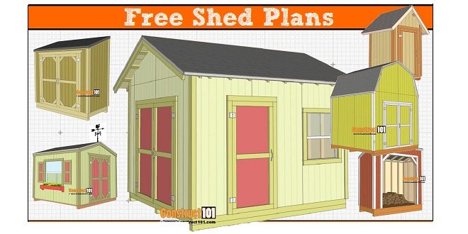 freeuse download Drawing storage tool shed. Free plans with drawings