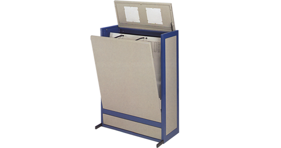 picture library stock Innovative large format filing. Drawing storage vertical
