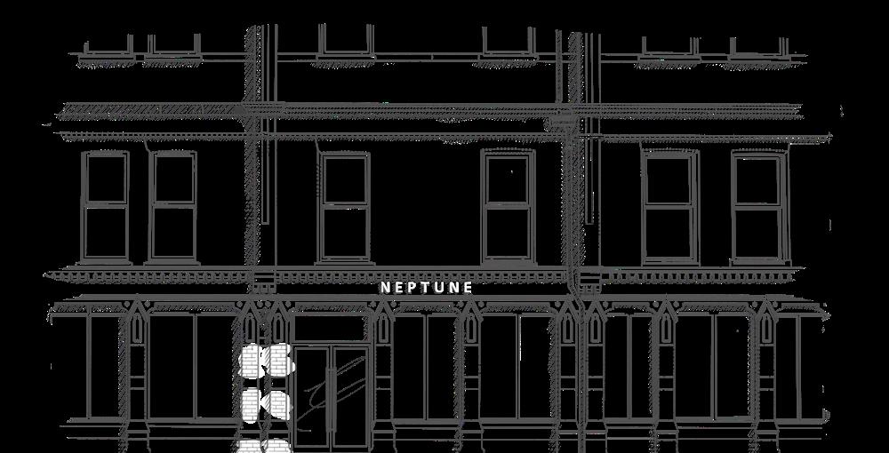 jpg royalty free Drawing store building. Neptune belfast beautifully made
