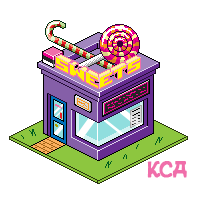 royalty free library Drawing store candy shop. Isometric sweet by kitty