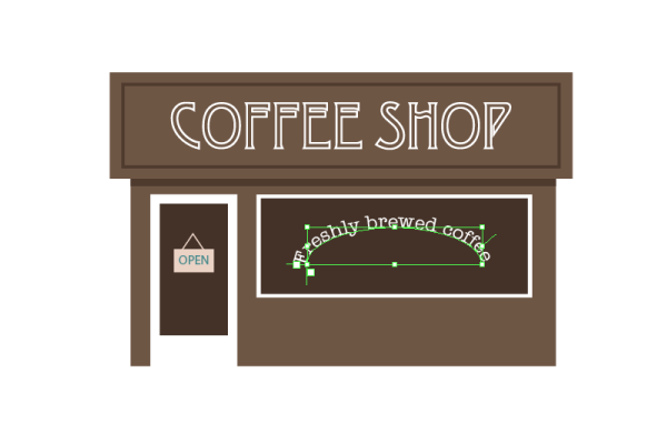 svg royalty free Drawing store coffee shop. How to create an