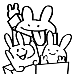 jpg library download Rabbits bunny in the. Drawing store cute