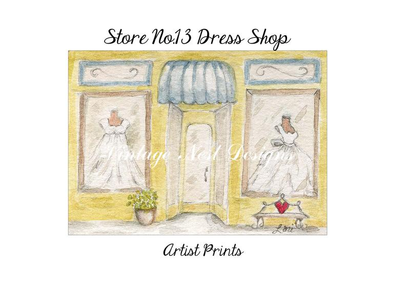 clipart royalty free library Digital download front no. Drawing store dress shop