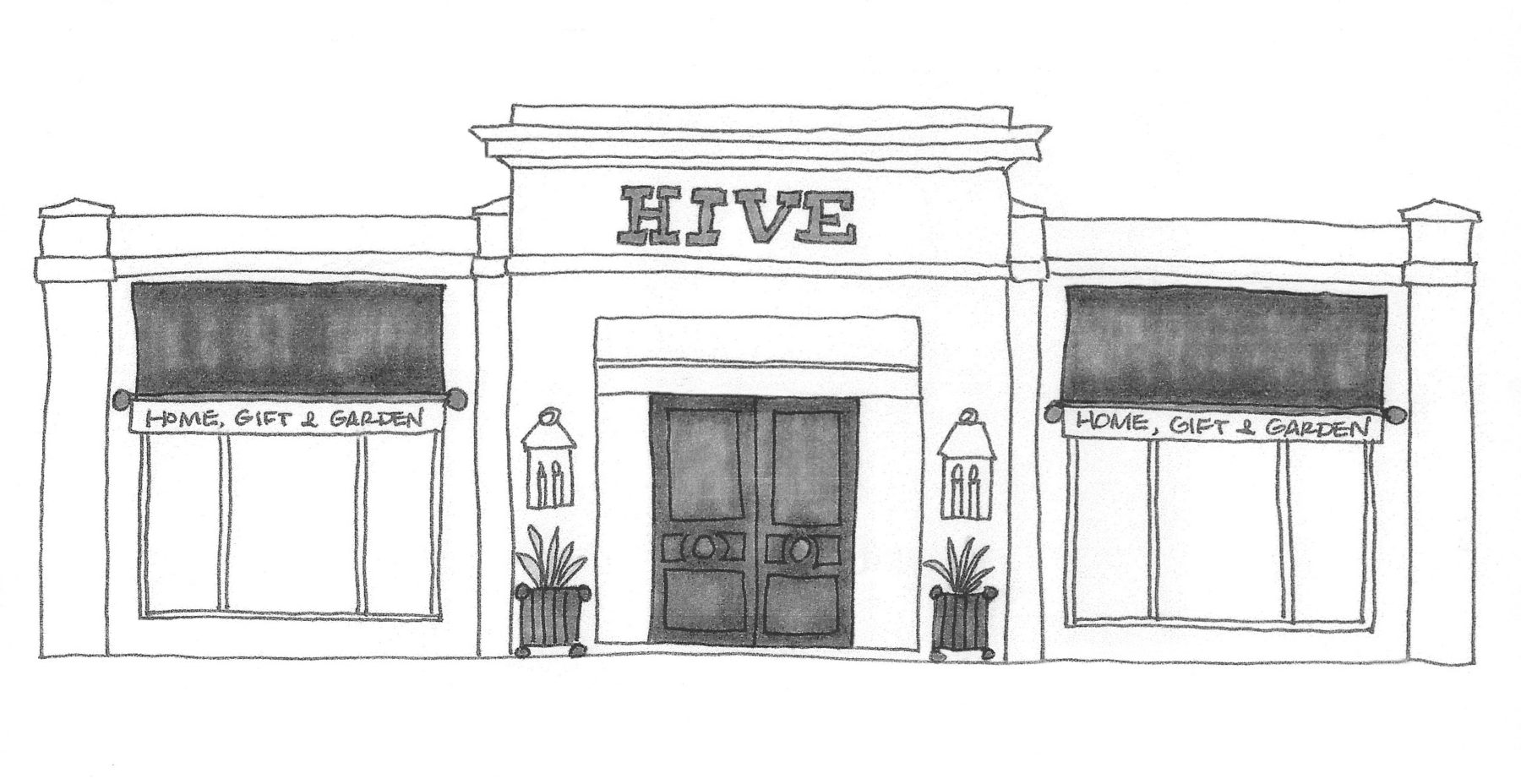 clip art free download Hive about . Drawing store exterior