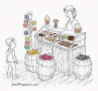 royalty free library Drawing store kid. Pin on illustration candy