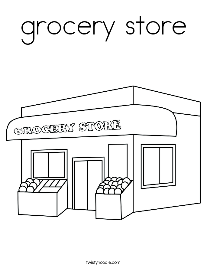 picture royalty free library Grocery at paintingvalley com. Drawing store kid