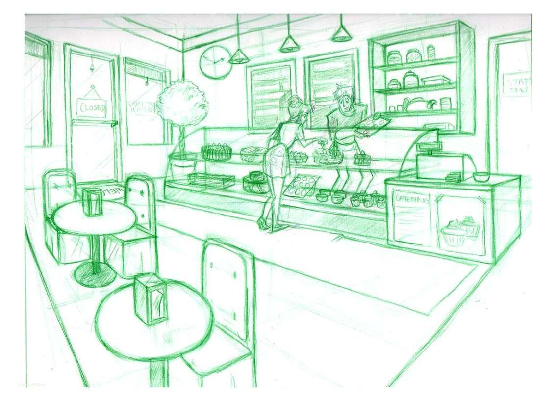 banner library library Drawing store pastry shop. Luxury home bakery kitchen