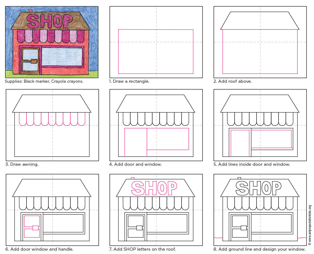 black and white download How to draw a. Drawing store shop window