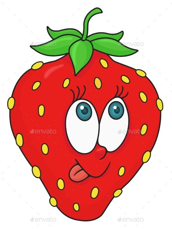 clipart freeuse library Fresh strawberry cartoon . Drawing strawberries animated
